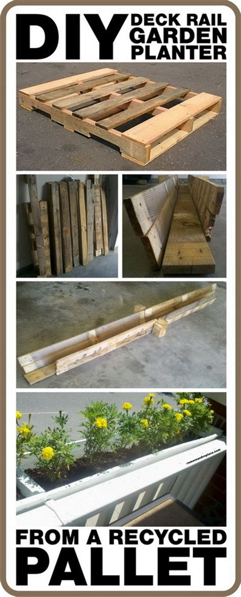 diy railing planter how to make a diy deck rail garden planter from a pallet removeandreplace