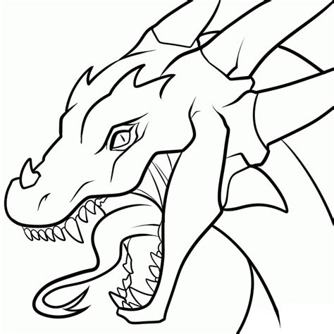 dragon head transparent lineart by dawnieda on deviantart