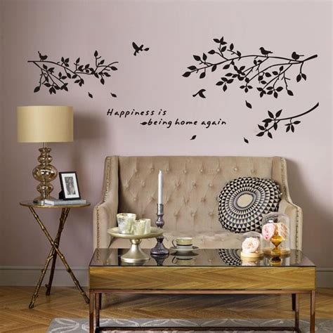 wall stickers home decor happiness is being home again vinyl quotes wall stickers