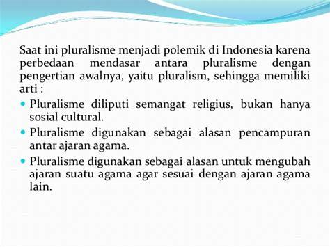Pluralitas Dan Pluralisme Agama pluralisme dan gender