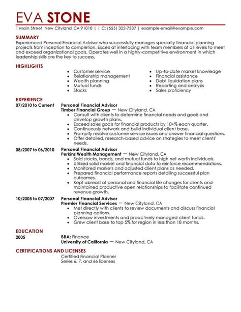 8 amazing finance resume exles livecareer