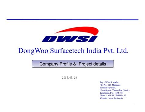 Detox Corporation Pvt Ltd Kutch by Dwsi Fmd Profile And Project Details 20140528