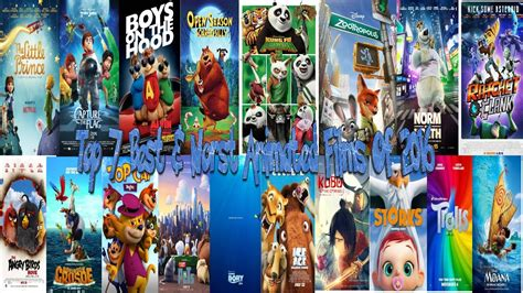 best 3d films the top 7 best worst animated films of 2016 youtube