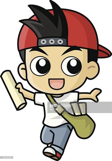 vector imagenes com paper boy vector cartoon vector art getty images