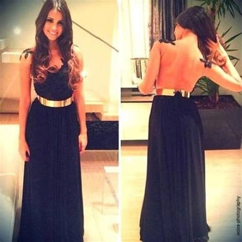 black dress with gold belt pictures photos and images