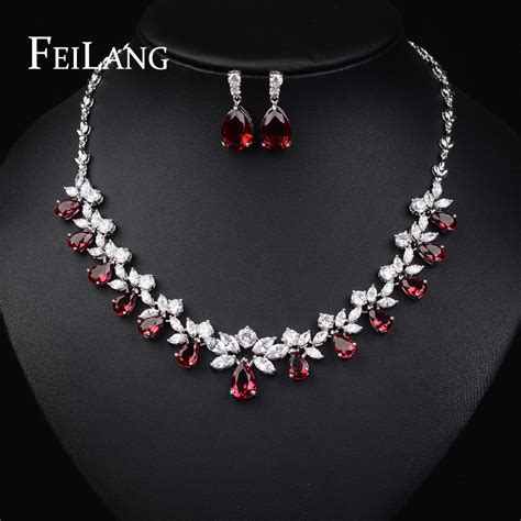 feilang top quality cubic zirconia platinum plated
