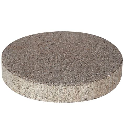 decorative stepping stones home depot pavestone 12 in x 12 in pewter round step stone 71319 the home depot