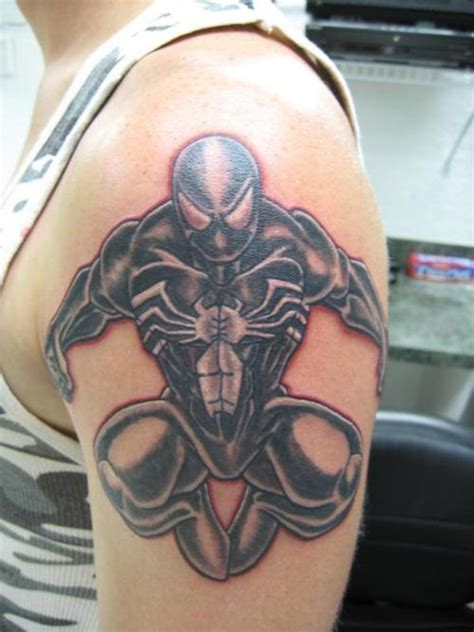 tribal spiderman tattoo