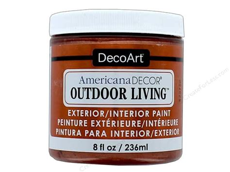 Decoart americana decor outdoor living paint 8 oz metallic copper createforless