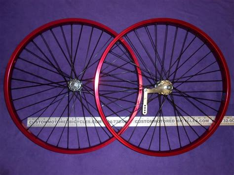 Handmade Bicycle Wheels - custom motored bicycles chrome heavy duty 12