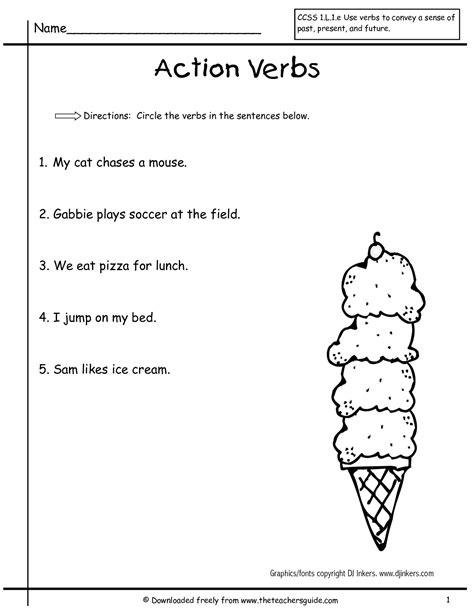 Verb Worksheets by Wonders Grade Unit Three Week Two Printouts