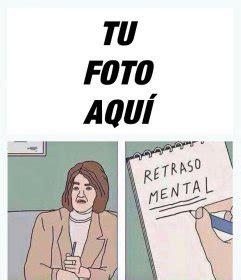 Editar Memes Online - montaje para editar del meme de retraso mental con