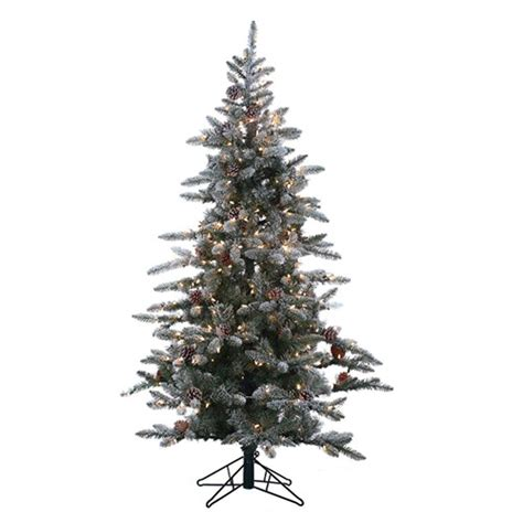 menards colorado flocked pine 10 ft feel real downswept douglas fir artificial tree with 1000 clear lights pedd4