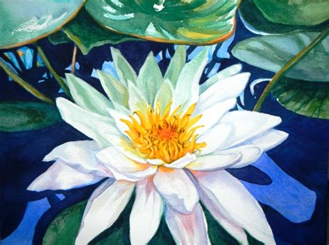 watercolor water lily tutorial paint a water lily in watercolor