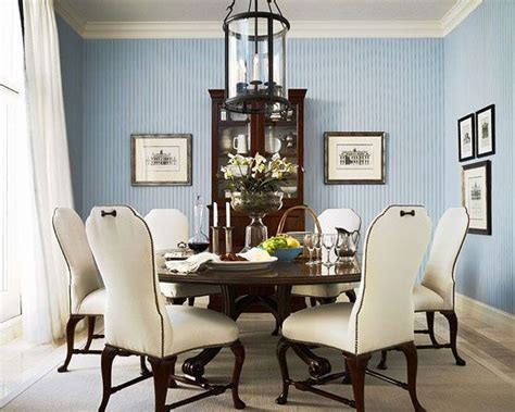 brown and blue dining room shapely queen anne dining chairs are upholstered in white
