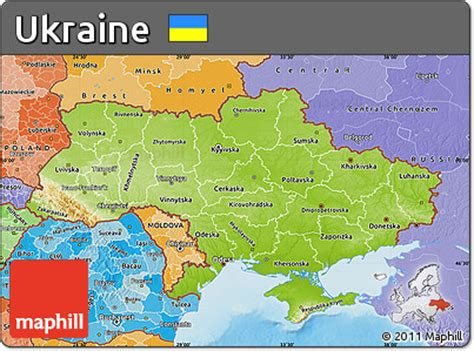 physical map of ukraine free physical map of ukraine political shades outside