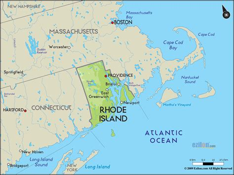 rhode island on map geographical map of rhode island and rhode island