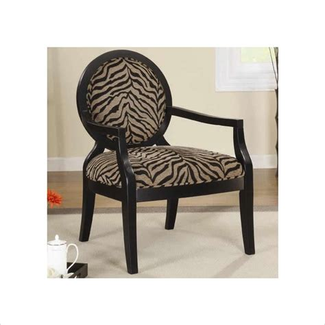 Zebra Accent Chair Coaster Accent Seating Louis Style Zebra Print Accent Chair 900213