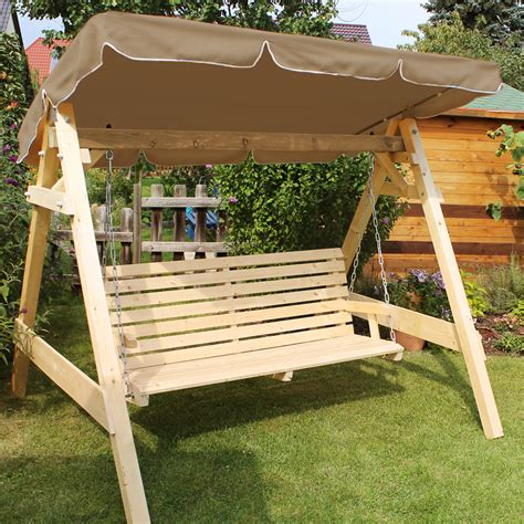 covered swing bench wooden garden patio porch swing bench solid furniture