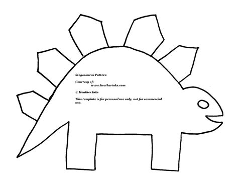Free Dinosaur Templates by Printable Dinosaur Templates Clipart Best