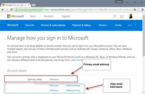 email microsoft how to change your primary microsoft account email