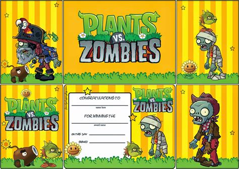 plants vs zombies invitation template birthday invitations gangcraft net