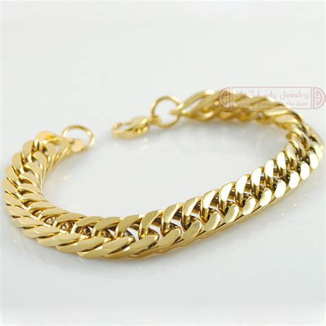 cadena tipo versace 18k gold plated stainless steel bracelets curb cuban chain
