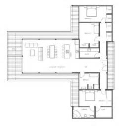 Contemporary Floor Plans by Modern Contemporary House Plan With Three Bedrooms And