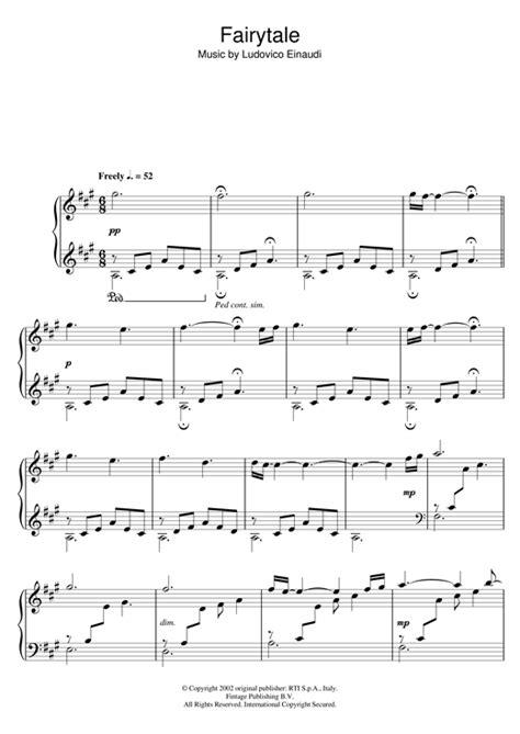 tutorial piano i giorni fairytale sheet music by ludovico einaudi piano 111850