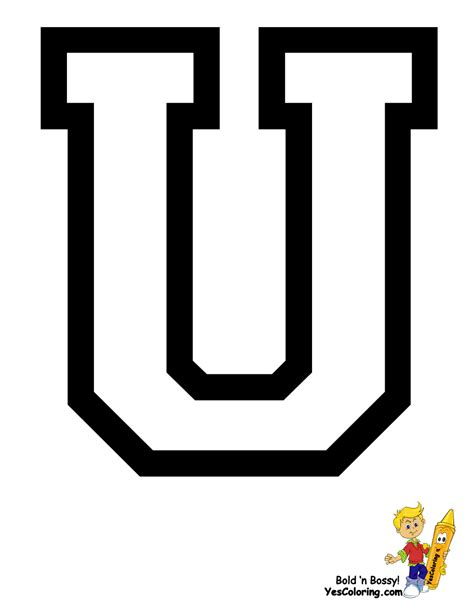 Letter U free coloring pages of alphabet letter u