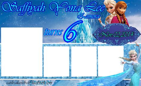 birthday tarpaulin layout design psd frozen birthday tarpaulin lay out by carlo1official on
