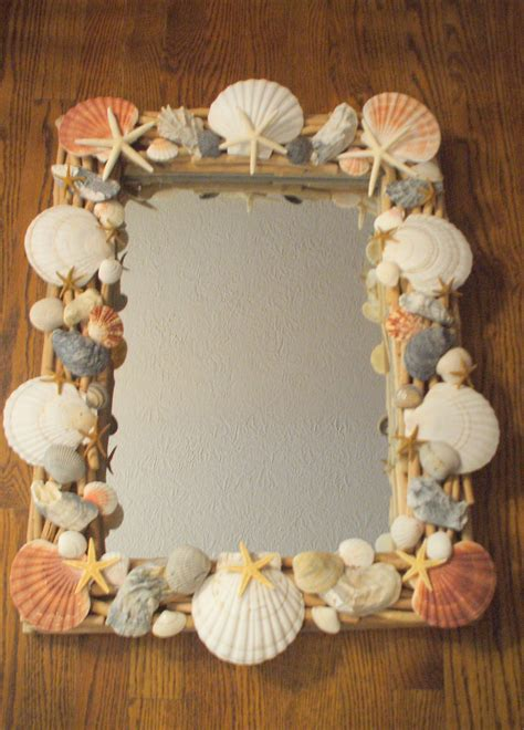 Seashell Bathroom Ideas Craft Seashell Embellished Mirror The Enchanted Manor