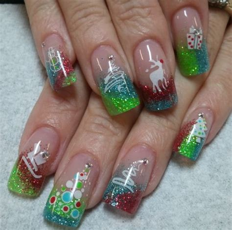merry christmas nail art designs 2018