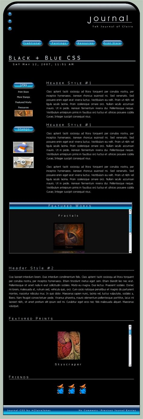 layout core css black blue css layout by clairejones on deviantart