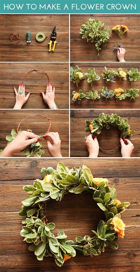 How To Make A Flower Crown With Paper - how to make a flower crown diy