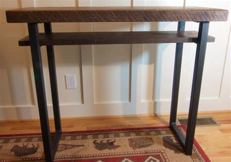 reclaimed wood entry table custom made reclaimed wood sofa table rustic oak