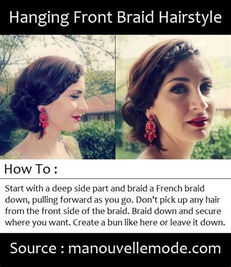 front braids hairstyles how to hanging front braid hairstyle hairstyles how to