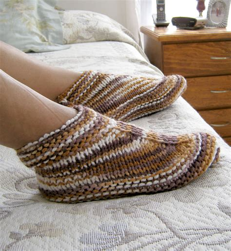 easy knit slipper pattern easy slipper knitting patterns in the loop knitting