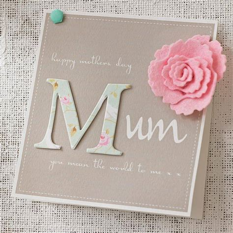 Mothers Day Gift Cards - personalised felt flower mother s day card by thoughts of you diy stuff pinterest