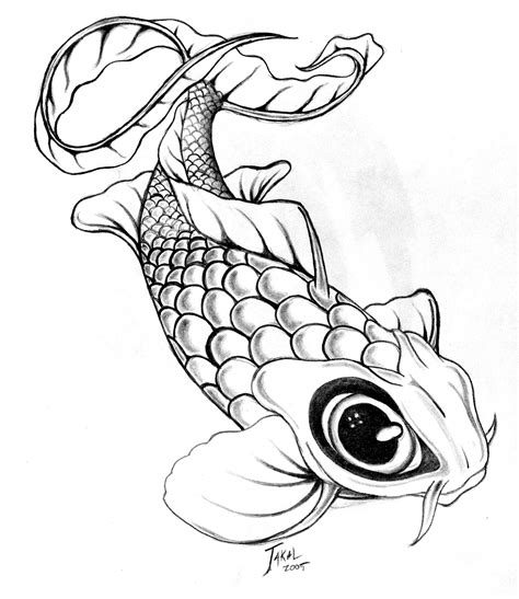 koi fish tattoo drawing design cool zone japanese koi fish designs gallery