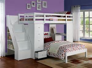 bunk bed with size bed on bottom 37145 bunk bed freya white loft bed with bookcase