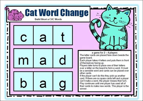 printable short vowel board games short vowel cvc board games