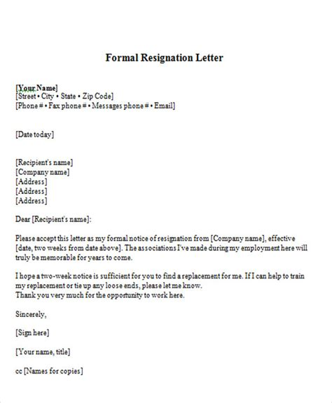 Acceptance Of Resignation Letter Of Auditor 65 Sle Resignation Letters