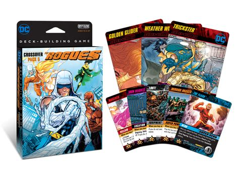 dc deck building card templates dc deck building crossover pack 5 the rogues