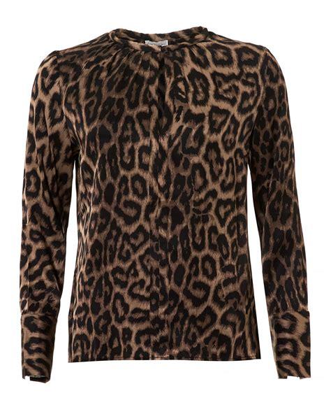 Blouse Dea dea kudibal womens seattle blouse leopard print silk top
