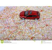 Map Of Europe And Car Stock Photo  Image 27450430