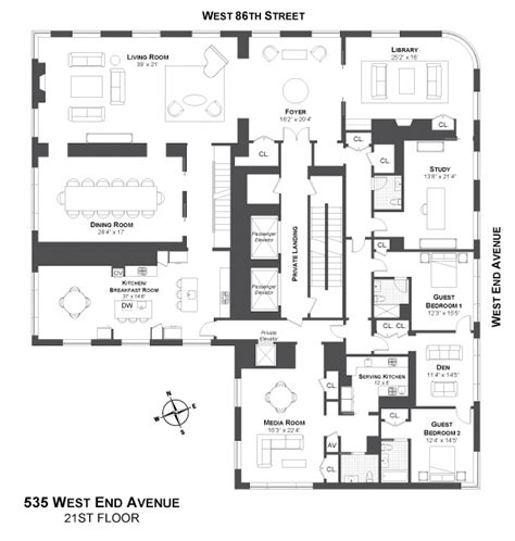 new york condo floor plans 1000 images about penthouse on pinterest 432 park