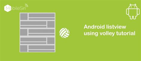 android listview tutorial android custom listview volley android studio