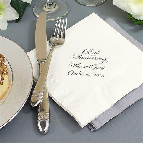 60th Wedding Anniversary Reception Ideas by Custom Printed 60th Wedding Anniversary Luncheon Napkins