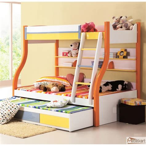 Bunk Beds For 3 Children Make A Mini With Bunk Bed For 3 Bedroom Design Ideas